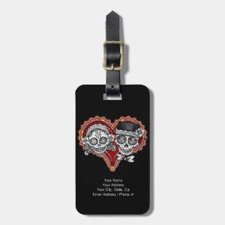 Sugar Skull Couple Luggage Tag - Customize it!