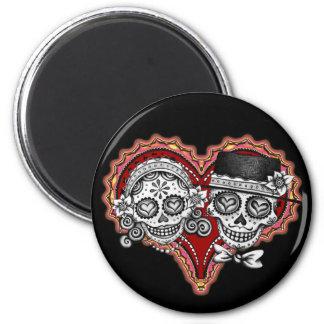 Sugar Skull Couple Magnet