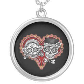 Sugar Skull Couple Necklace