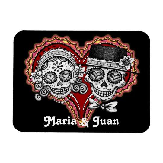 Sugar Skull Couple Premium Magnet - Customise It!