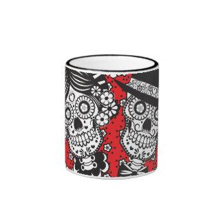 Sugar Skull Couple Ringer Mug