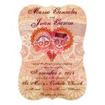 "Sugar Skull Couple Wedding Invitations 5"" X 7"" Invitation Card"