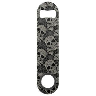 Sugar Skull Crossbones Pattern Bar Key