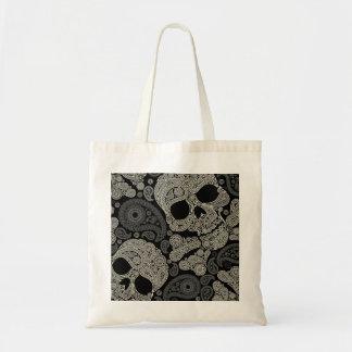 Sugar Skull Crossbones Pattern Budget Tote Bag
