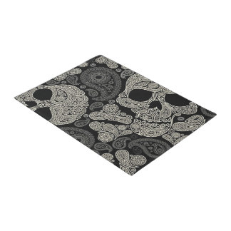 Sugar Skull Crossbones Pattern Door Mat
