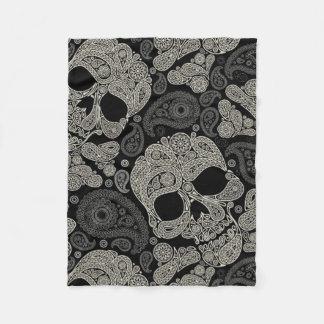 Sugar Skull Crossbones Pattern Fleece Blanket