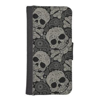 Sugar Skull Crossbones Pattern iPhone 5 Wallet
