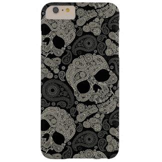 Sugar Skull Crossbones Pattern iPhone 6 Plus Case