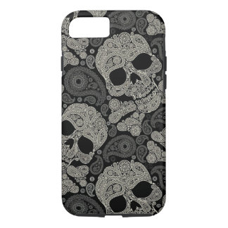 Sugar Skull Crossbones Pattern iPhone 7 Case