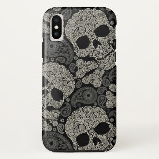 Sugar Skull Crossbones Pattern iPhone X Case
