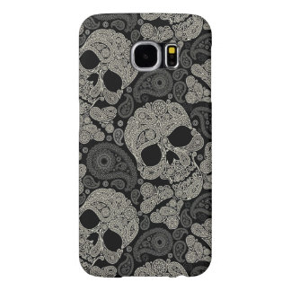 Sugar Skull Crossbones Pattern Samsung Galaxy S6 Cases