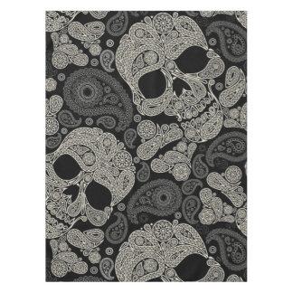 Sugar Skull Crossbones Pattern Tablecloth