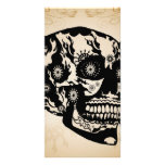 Sugar skull custom photo card