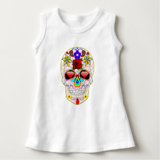 Sugar Skull Customizable Baby Sleeveless Dress