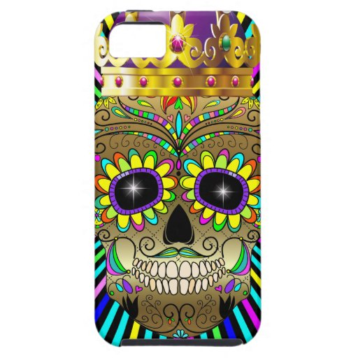 Sugar Skull - Day of the Dead - iPhone Case - SRF iPhone 5 Case