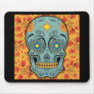 Sugar Skull - Day of the Dead (Marigold) Mouse Mat