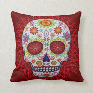 Sugar Skull Day of the Dead Pillow