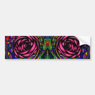 Sugar Skull Day of the Dead Rainbow Colorful Art Bumper Sticker