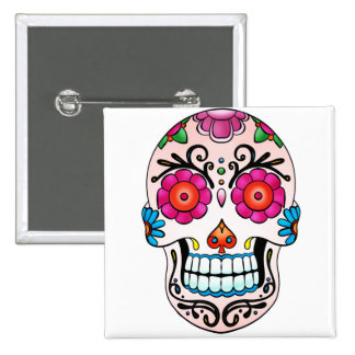 Sugar Skull - Day of the Dead, Tattoo, Mexico 15 Cm Square Badge