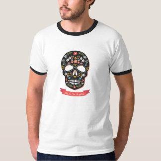 Sugar Skull Day of the Dead Wall T-shirt - black
