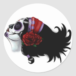 Sugar Skull Design Round Sticker