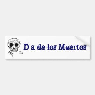 Sugar Skull Día de los Muertos Car Bumper Sticker