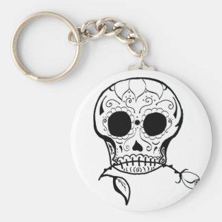 Sugar Skull Día de los Muertos Key Chain