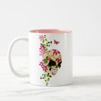 Sugar Skull [Día de Muertos] Two-Tone Coffee Mug
