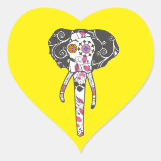 Sugar Skull Elefant Heart Sticker