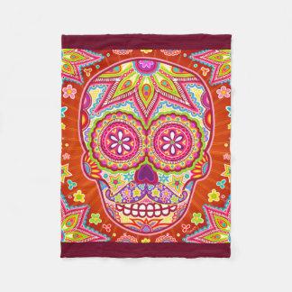 Sugar Skull Fleece Blanket