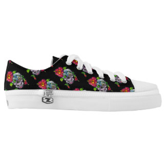 SUGAR SKULL & FLOWER LOW TOPS