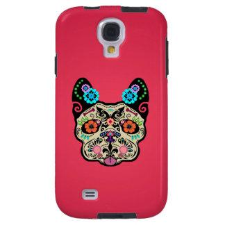 Sugar Skull Frenchie - Pink Galaxy S4 Case