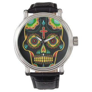 Sugar skull full color watch