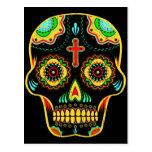 Sugar skull full colour postcard