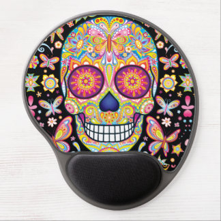 Sugar Skull Gel Mousepad - Day of the Dead Art Gel Mouse Mat