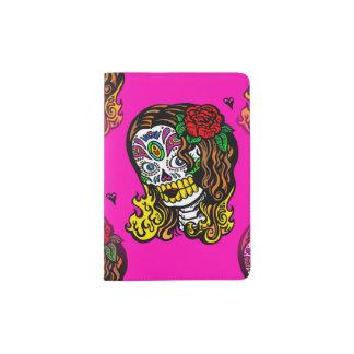 sugar skull girl passport holder