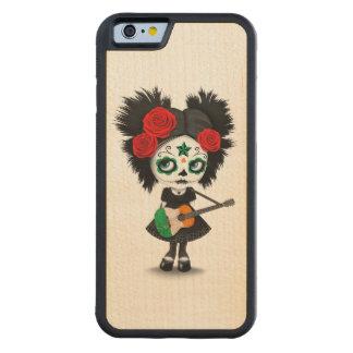 Sugar Skull Girl Playing Irish Flag Guitar Carved Maple iPhone 6 Bumper Case