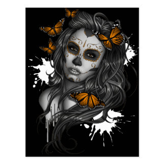 Sugar Skull Girl Postcard