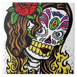 Sugar Skull Girl Tile
