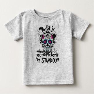Sugar Skull & Graphics Kids T-Shirt. Grey Baby T-Shirt