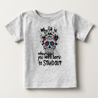 Sugar Skull & Graphics Kids T-Shirt. Grey T-shirts