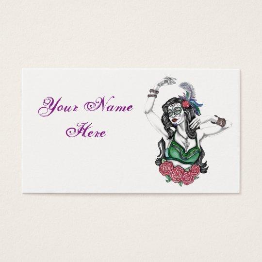 Sugar Skull Gypsy Business Card