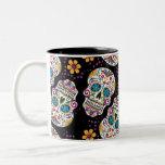 Sugar Skull Halloween Black Two-Tone Mug
