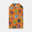 Sugar Skull Halloween Day of the Dead Print Gift Tags