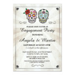 Sugar Skull Halloween Engagement Party Invite