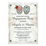 Sugar Skull Halloween Engagement Party Invite