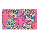 Sugar Skull Halloween Pink Pack Of Standard Business Cards