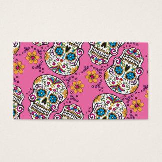 Sugar Skull Halloween Pink Business Card