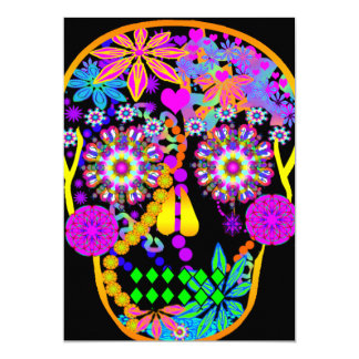 Sugar Skull | Hawaiian Tiki 13 Cm X 18 Cm Invitation Card