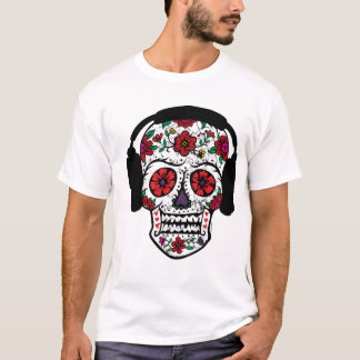 Sugar Skull headphones T-Shirt